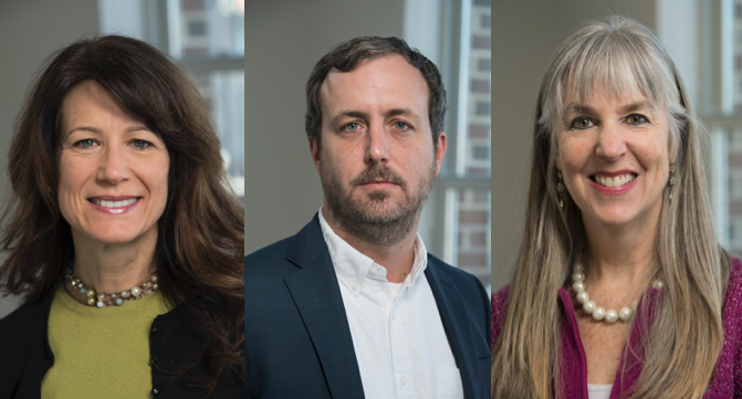 Pictured (left to right) are the lead authors of the study from the International Vaccine Access Center at the Johns Hopkins Bloomberg School of Public Health: Dr. Maria Knoll, Dr. Brian Wahl, Dr. Kate O'Brien