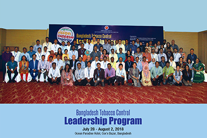 Bangladesh Tobacco Control Leadership Program Alumni
