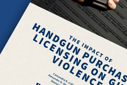 Report cover of The Impact of Handgun Purchaser Licensing