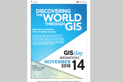 GIS day flyer image