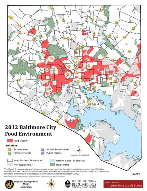 New Improved Food Desert Map 2012 Announcements News