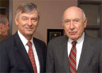 Drs. Don Steinwachs and Charles Flagle (Photo credit: Larry Canner)