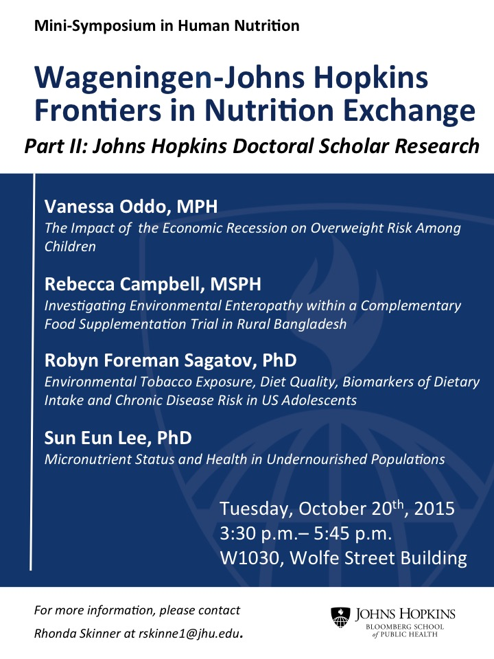Wageningen-Johns Hopkins Frontiers in Nutrition Exchange