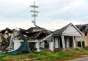 home destroyed by natural disaster