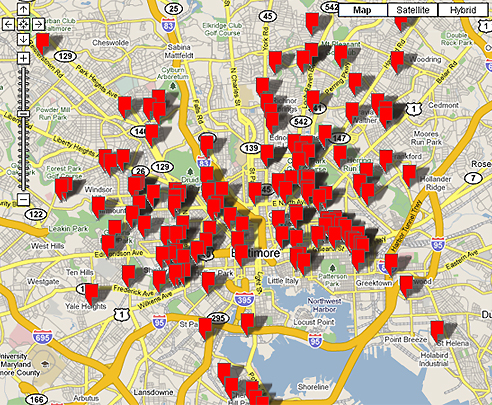 Baltimore Murder Map