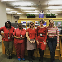 Student Affairs Women Wear Red