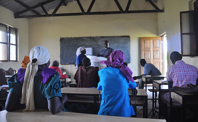 South Sudan classroom