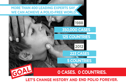 Dean Klag Signs Declaration to End Polio
