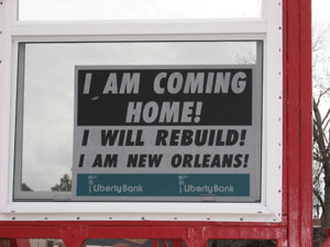 New Orleans encouraging sign