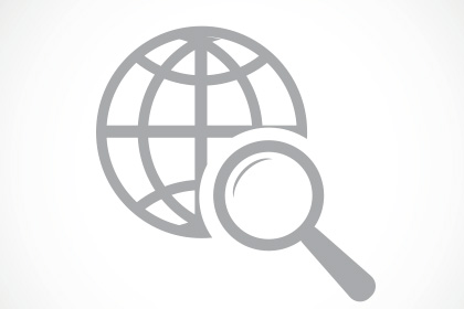 icon of a globe and magnifying glass