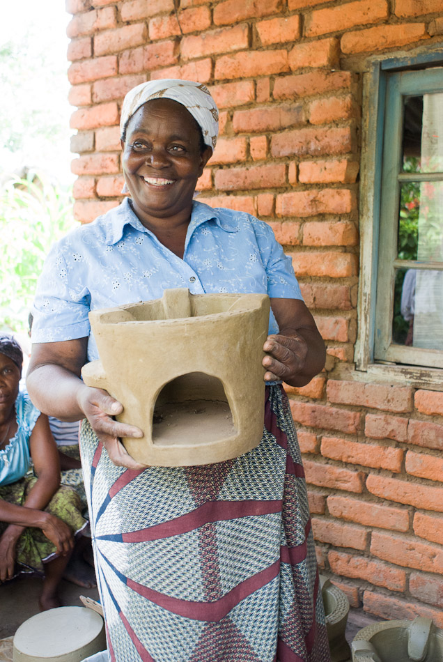 The operator of a clean cookstove cooperative in Mulanje, Malawi.