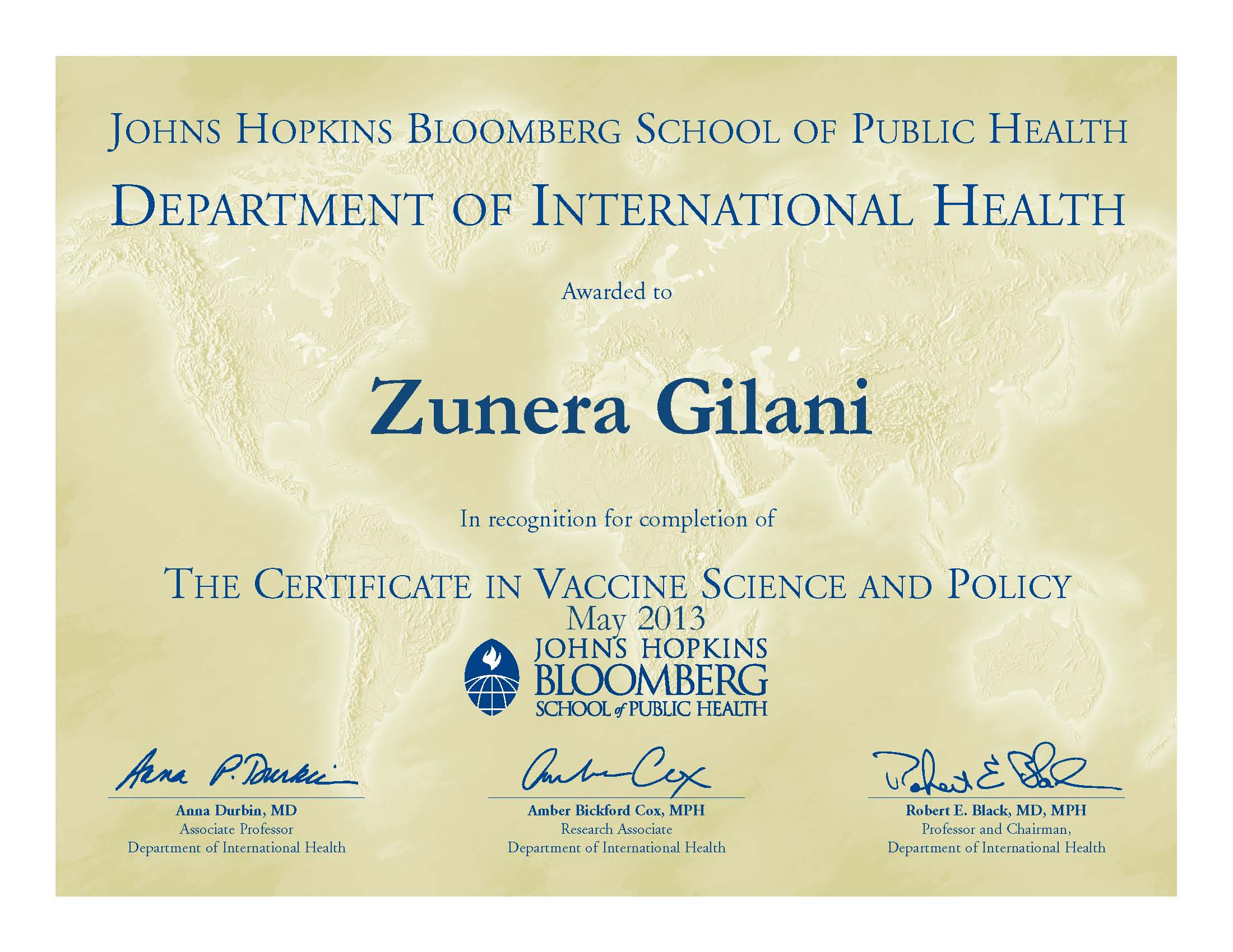 Vaccine science and policy certificate program vaccine certificate sample xflitez Gallery
