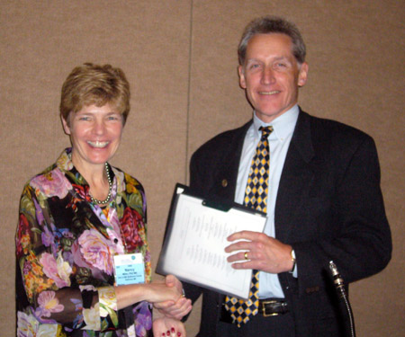 Chad Boult receives 2008 Archstone Award.