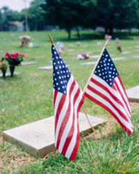 Flags at the cemetery