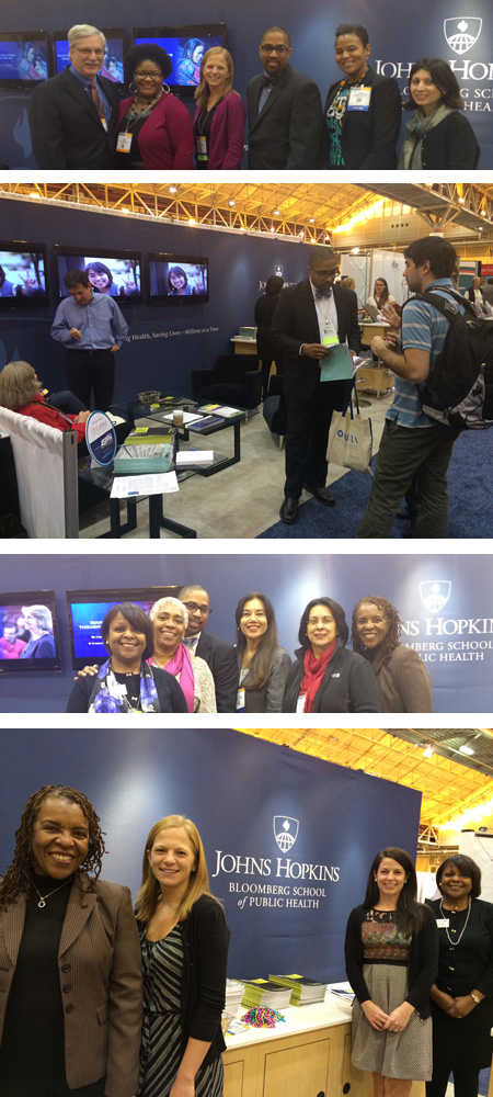 Visiting the JHSPH Booth at APHA