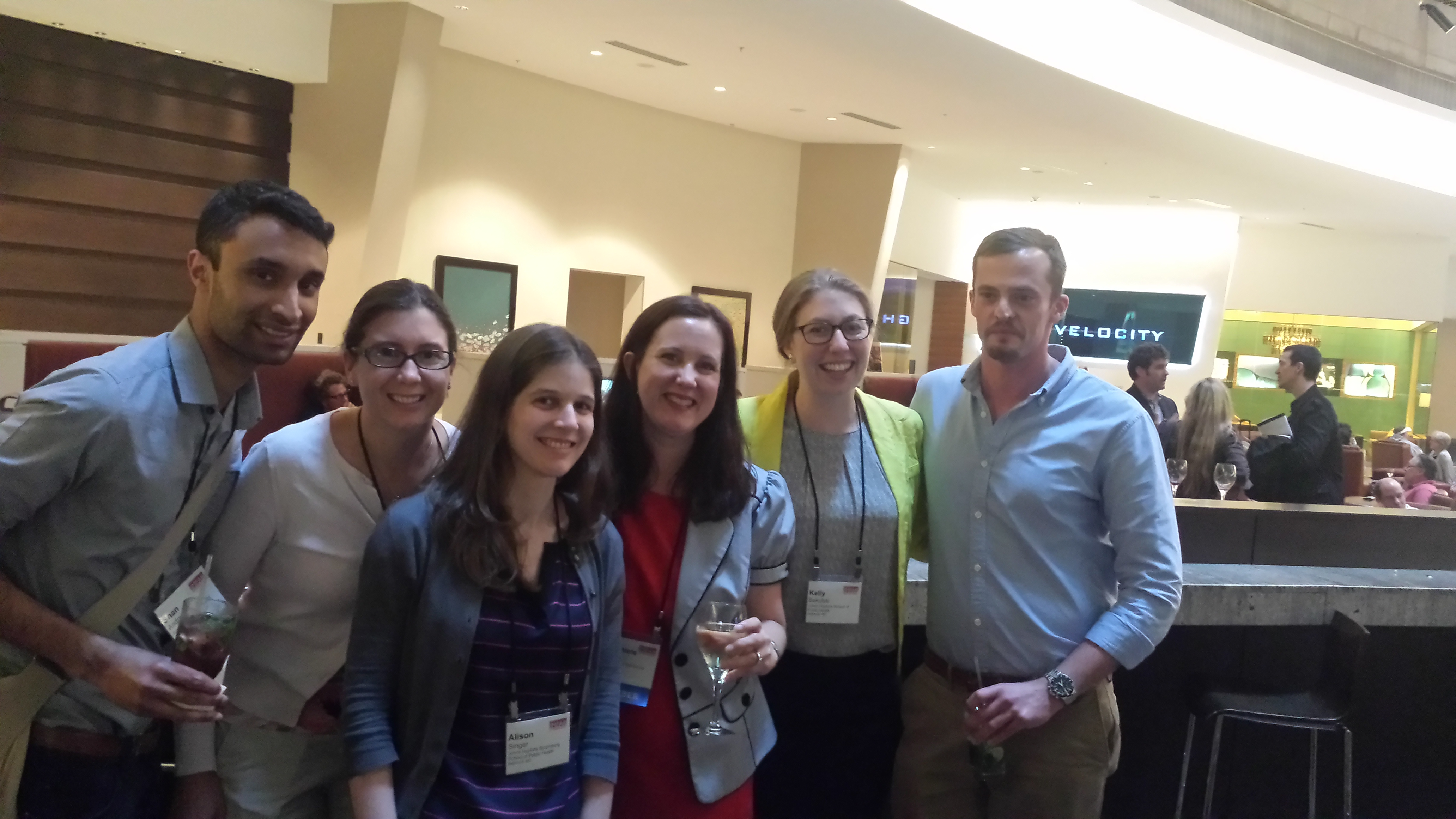 Shan Andrews, Kelly Bakulski, Alison Singer, Dani Fallin, Chris Ladd-Acosta and Jason Feinberg attended IMFAR 2014, the International Meeting For Autism Research.