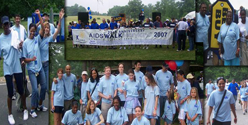 ALIVE group at AIDS walk 2007