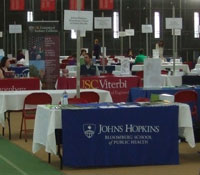 JHSPH table at graduate fair