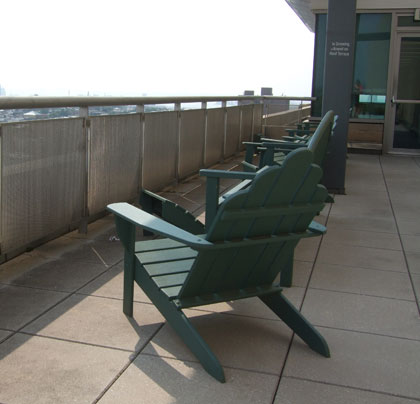 Ninth-floor patio