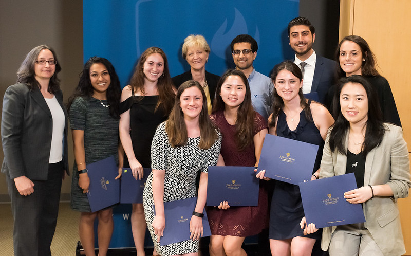 Induction Ceremony 2019 - Dean with students
