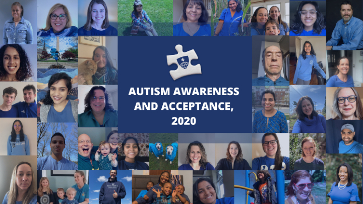 2020 JHSPH Autism Awareness and Acceptance photo collage