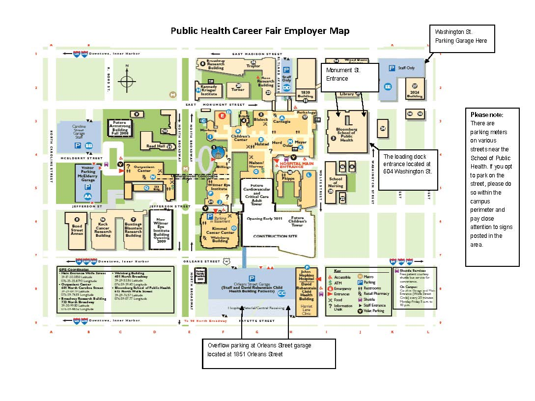 Public Health Career Fair Map