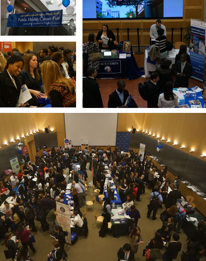 Career Fair collage