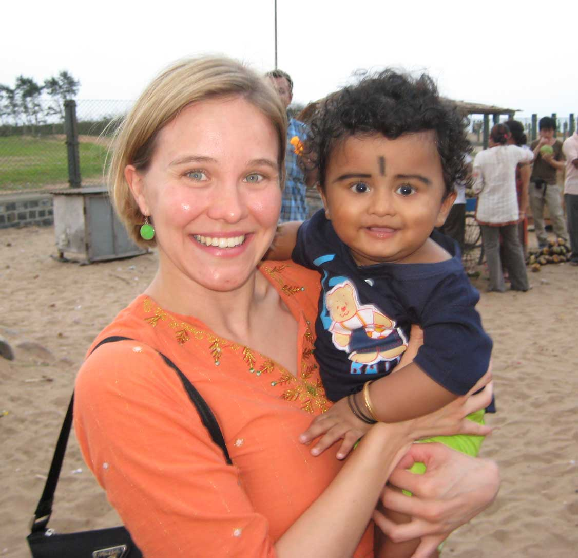 Asst. Professor Caitlin Kennedy in India