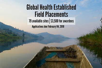 Global Health Established Field Placements 2018 application cycle now open