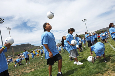 Native Vision soccer camp. Photo credit Ed Cunicelli