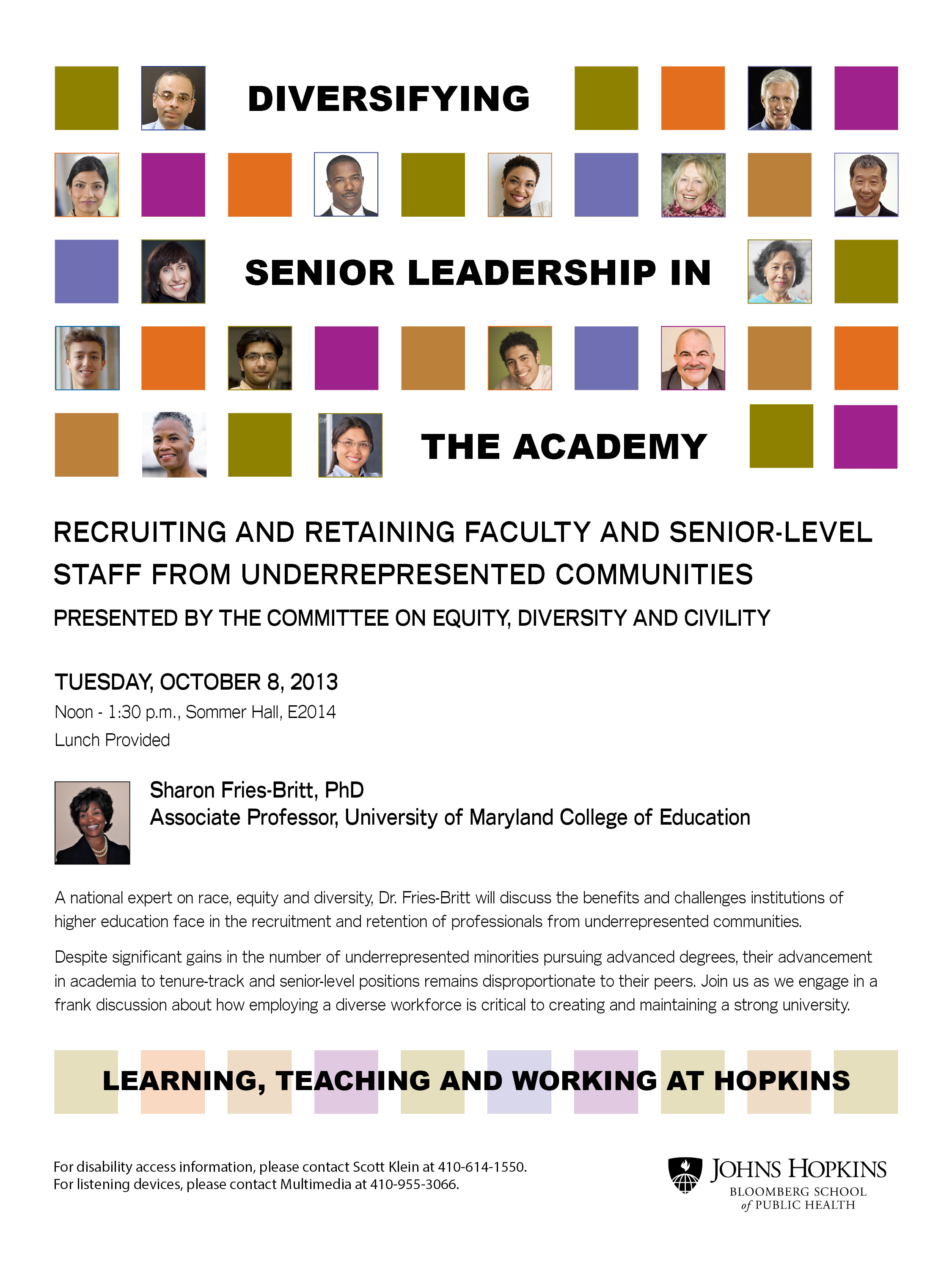 Diversifying Senior Leadership in the Academy poster
