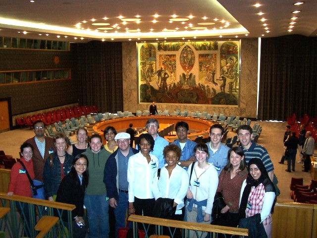 Group Picture at our 2005 Trip to the UN in New York!