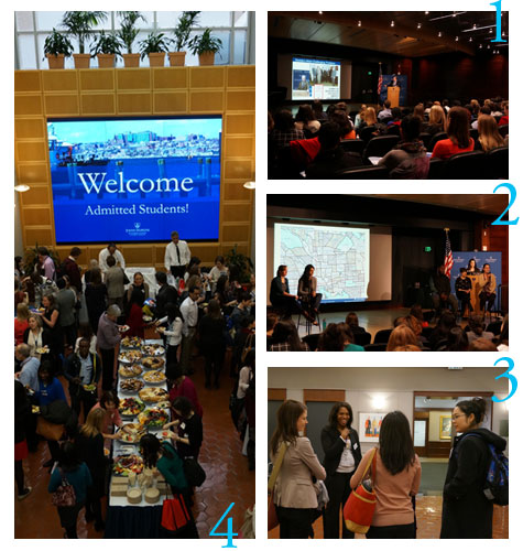 Four photos from Admitted Student Visitors Day