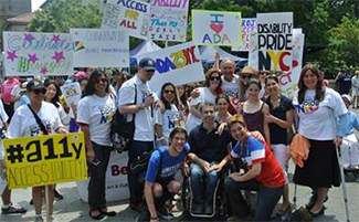 Supporters at Disability Pride rally