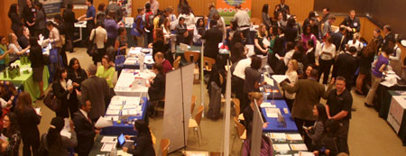 Career Fair participants in Feinstone Hall