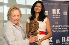 Varsha Ramakrishnan and Ethel Kennedy
