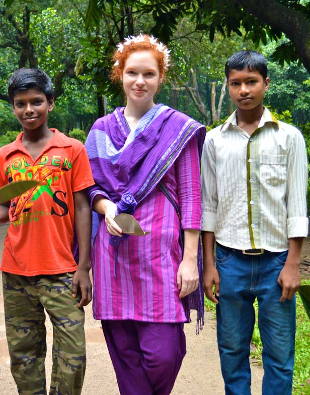 Liz Thomas in Bangladesh