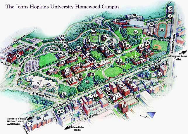 johns hopkins university campus map Homewood Directions Housing Graduate Summer Institute Of johns hopkins university campus map
