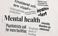 Mental health related newspaper clippings.