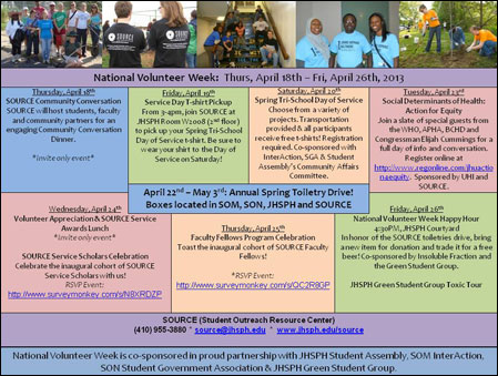National Volunteer Week Activities