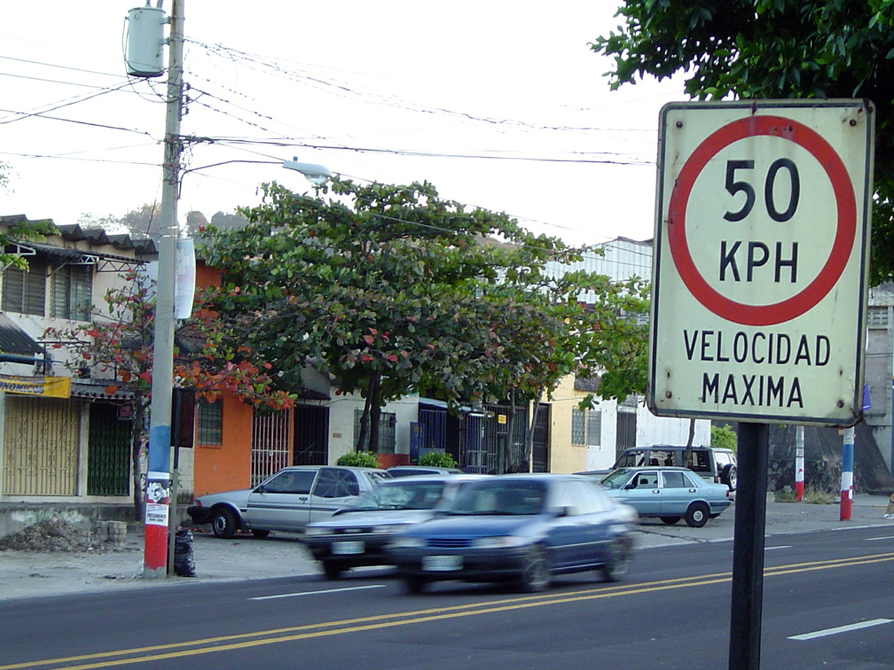 road speed sign