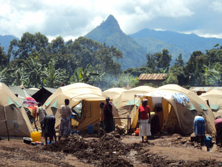 IDP Camp in Bududa, Eastern Uganda