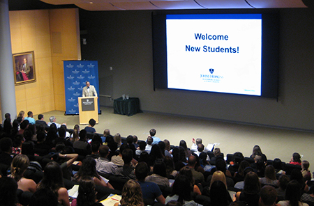 Dean Ward Welcomes the New Students