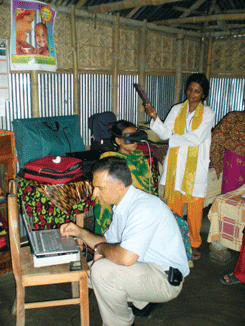 Larbrique testing spectrometer in Bangladesh