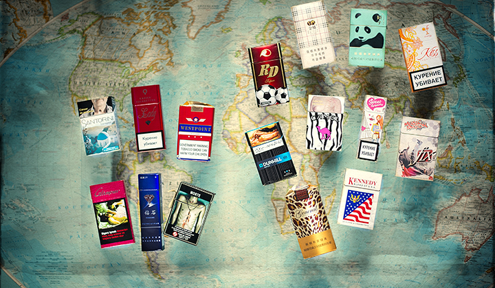 Institute for global tobacco control world packs collection