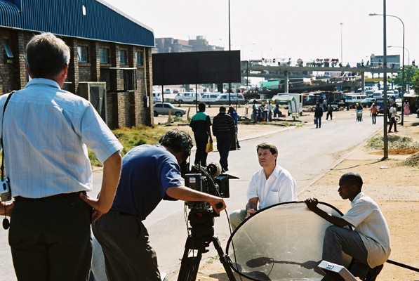 Dr. Orin Levine in South Africa filming a documentary about pneumococcal disease for BBC in 2004. (Photo Credit: IVAC)