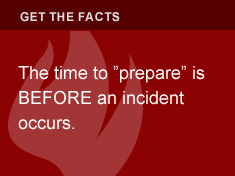 "The time to ""prepare"" is BEFORE an incident occurs."