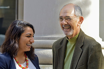 Photo of Radhika Raghunathan and Bernard Guyer by Mollye Miller